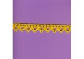 """10 Yds   5/8""""   Golden Yellow Crochet Cluny    1610"""