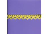"5 Yds    5/8""   Canary Yellow  Crochet Cluny     1613"