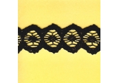 "5 Yds  1 5/8""  Black Crochet Cluny   1755"