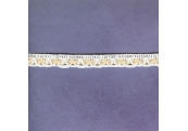 "5 Yds  7/16""  White/Peach Crochet Cluny Lace   2834"