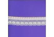 """5 Yds  1 1/2""""  White/wPink Beading Crochet     3018"""