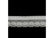 """5 Yds 1 1/4"""" White Beading Crochet  3036"""
