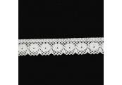 "5 Yds   7/8""    White Crochet Cluny  3065"