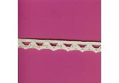 "5 Yds   1/2""    Ivory Crochet Cluny Trim  3073"