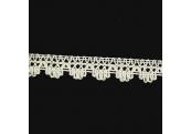 "4 3/4 Yds   3/4""    Ivory Crochet Cluny Trim   783X"