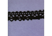 "5 Yds  3/4""   Black Crochet Cluny  Lace    3233"