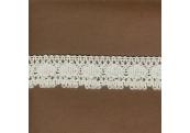 """5 Yds  1""""  White Crochet   3477"""