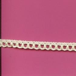 "5 Yds   5/16""    Ivory  Loop Crochet Cluny  3510"