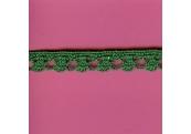 "5 Yds   1/2""    Green Crochet Cluny  3545"