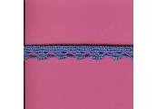 "5 Yds   7/16""  Copen Blue Crochet Cluny    3548"