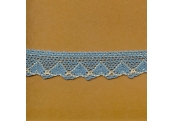 "5 Yds  1""  Blue Heart Crochet Cluny  4023"