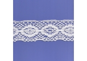 "5 Yds 2 3/4"" White Crochet Cluny Lace   4286"