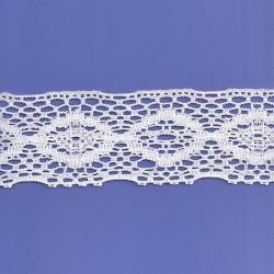 "5 Yds 2 3/4"" White Crochet Cluny Lace   4286"