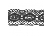 "5 Yds  2 5/8""  Black Crochet Cluny Lace   4304"