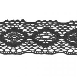 """5 Yds  2 5/8""""  Black Crochet Cluny Lace   4304"""