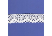 "5 Yds  1 1/8""  White Crochet  Cluny Lace  4506"
