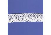 "5 Yds  1 1/8""  White Crochet  Cluny Lace  4506"