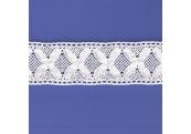"5 Yds  2  1/8""  White Crochet Cluny Lace   4508"