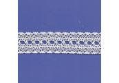 "9 2/3 Yds  1 1/8""  White Crochet Beading Cluny Lace   4509"