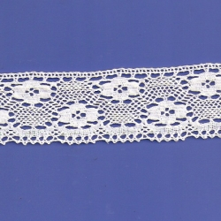"8 Yds  2""  White Crochet Cluny Lace   4512"