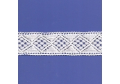 "5 Yds  1 5/8""  White Crochet Cluny Lace   4515"