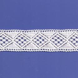 "4 3/4 Yds  1 5/8""  White Crochet Cluny Lace   4515"