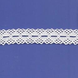 "5 Yds  7/8""  White Crochet Cluny Beading Lace   4518"