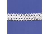 "5 Yds  7/8""  White Crochet Cluny  Lace   4519"