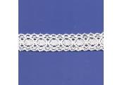 "5 Yds  7/8""  White Crochet Cluny  Lace   4519"