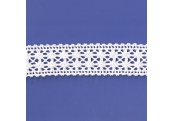 "5 Yds 1 5/8""  White Crochet Cluny Lace   4520"