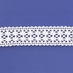 "5 Yds 1 5/8""  White Crochet Cluny Lace   4520"