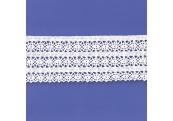 "5 Yds 2 1/2""  White Crochet Cluny Lace   4521"