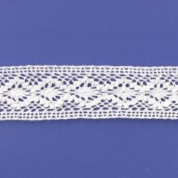 "5 Yds 1 3/4""  White Crochet Cluny Lace   4522"