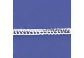 "5 Yds  3/8""  White Crochet Cluny Lace  4691"