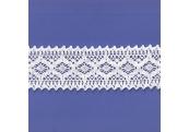 "9 Yds  2 7/8""  White Crochet Cluny Lace  4697"