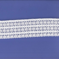 "5 Yds  2 1/2""  White Crochet Cluny Lace  4698"