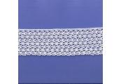 "5 Yds  2 5/8""   White Crochet Cluny Lace   4701"