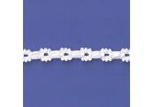 "5 Yds  7/16""  White Beading Crochet Cluny Lace  4708"