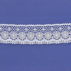 "5 Yds  2""   White Crochet Cluny Lace  4728"