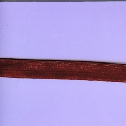 "5 Yds 5/8"" Burgundy Fold Over Elastic   4129"