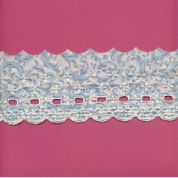 """5 Yds 3 1/4"""" Cotton Embroidery Beading Trim    1173"""