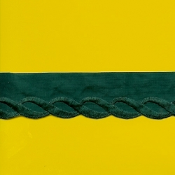 """5 Yds 1 5/8""""  Forest Green Embroidery Trim    2037"""