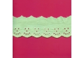 """5 Yds  2""""  Mint Embroidery Eyelet  3802"""