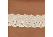 "5 Yds  1 7/8""  Ivory Cotton Embroidery Eyelet   4067"