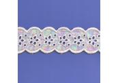 "5 Yds 2"" Double Sided Ivory Embroidery Eyelet    4329"