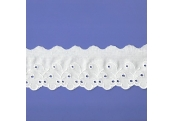 """5 Yds    2 3/8""""  Natural Embroidery Eyelet Lace  4791"""