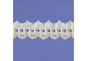 """5 Yds  1 5/8""""  Natural Embroidery Eyelet Beading Lace  4937"""