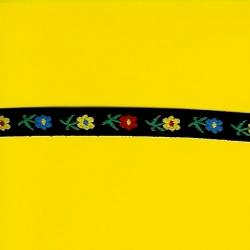 """5 Yds   1/2""""    Black Floral Jacquard   1351"""