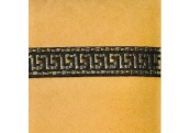 "5 Yds  3/4""  Black/Gold Metallic Greek Key Jacquard   2340"