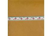 "5 Yds  7/16""  Pink/Green Floral Jacquard  3808"